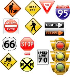 road signs and traffic light 273x300 Know Your Road Signs for a Better Car Insurance Premium