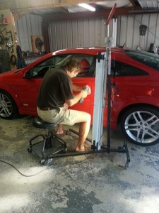 "removing a dent by ""paintless dent removal"" is a cheaper option that the more traditional way"